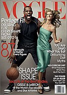 The 1933 King Kong movie poster and the March 2008 Vogue cover with James and Gisele Bundchen which some claim references it