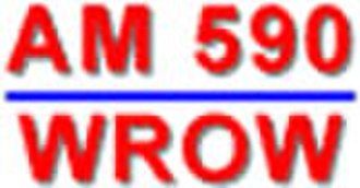 WROW - One of WROW's logos as a news/talk station.  The station later adopted a logo resembling that of WMAL.