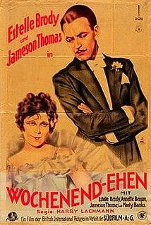 <i>Weekend Wives</i> 1928 film by Harry Lachman