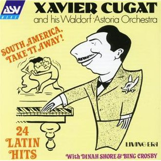 Waldorf–Astoria Orchestra - Waldorf–Astoria Orchestra album with a Cugat caricature.