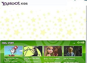 Yahoo! Kids - Screenshot of Yahoo! Kids website in 2010