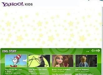 Yahoo! Kids - Screenshot of Yahoo! Kids website in 2010