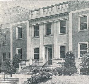 King's Daughters Medical Center - The main entrance to King's Daughters, as it looked in the mid-1950s.