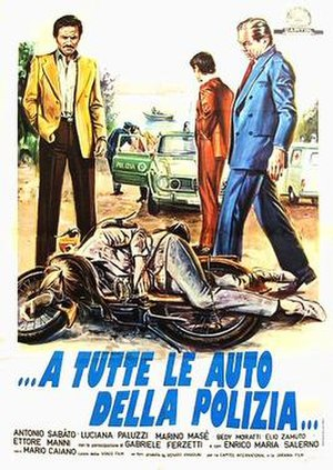 Calling All Police Cars - Italian theatrical release poster