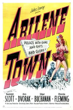 Abilene Town - Theatrical poster