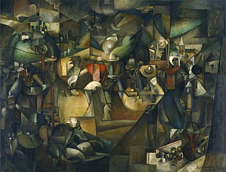 La Chasse (Gleizes) - Albert Gleizes, 1912, Le Dépiquage des Moissons (Harvest Threshing), oil on canvas, 269 x 353 cm, National Museum of Western Art, Tokyo, Japan