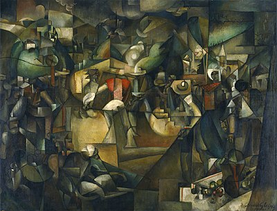 Albert Gleizes, 1912, Le Dépiquage des Moissons, Harvest Threshing, oil on canvas, 269 x 353 cm, National Museum of Western Art, Tokyo, Japan.jpg
