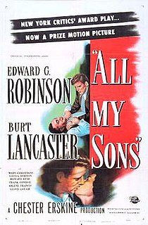 <i>All My Sons</i> (film) 1948 film by Irving Reis
