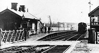 Blowick railway station - Blowick railway station circa 1910.