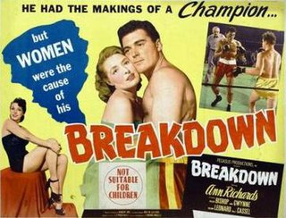 <i>Breakdown</i> (1952 film) 1952 American feature film directed by Edmond Angelo