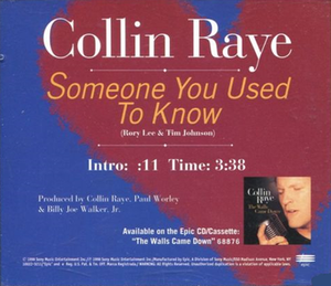 Someone You Used to Know - Image: Collin Raye Someone You Used to Know