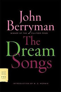 <i>The Dream Songs</i> 1969 collection of poetry