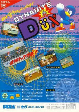 Japanese arcade flyer of Dynamite Düx