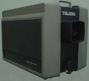 Talaria projector - Early model GE Talaria light valve video projector.