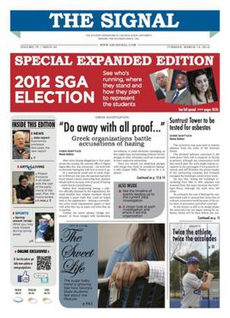 The Signal (college newspaper) - Image: GSU Signal Front Cover
