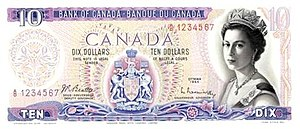 Scenes of Canada - Image: Giori proposed design for Scenes of Canada $10 banknote, obverse