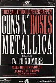 Guns N Roses/Metallica Stadium Tour 1992 concert tour