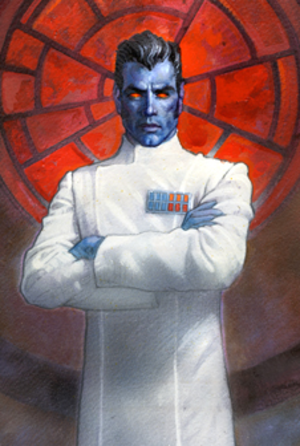 Grand Admiral Thrawn - Thrawn from the Star Wars Miniatures game Imperial Entanglements expansion pack packaging (2009)