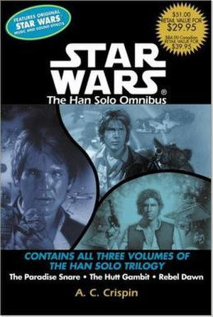 The Han Solo Trilogy - The cover of The Han Solo Trilogy omnibus edition.