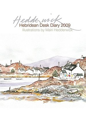 Mairi Hedderwick - Cover of Hedderwick's Hebridean Desk Diary 2009, showing the style of her watercolour sketches