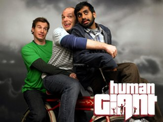 Human Giant - The cast of Human Giant (from left to right), Huebel, Scheer and Ansari.
