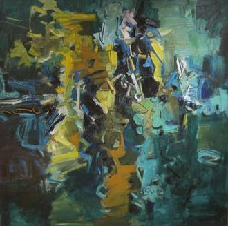 John Chin Young - Tantalus, oil painting by John Chin Young, 1976, Hawaii State Art Museum