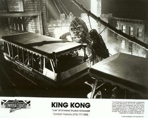 King Kong Encounter - Photograph from Universal Studios Hollywood's publicity department.