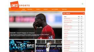 Kwesé Sports - Image: Kwese Sports Homepage
