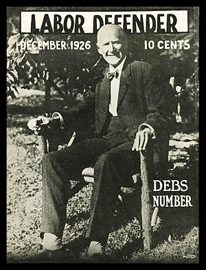 International Labor Defense - During its early years, the ILD tried to portray itself as a multi-tendency organization largely independent of the Communist Party, as exemplified by this ILD magazine featuring Eugene V. Debs of the rival Socialist Party of America.