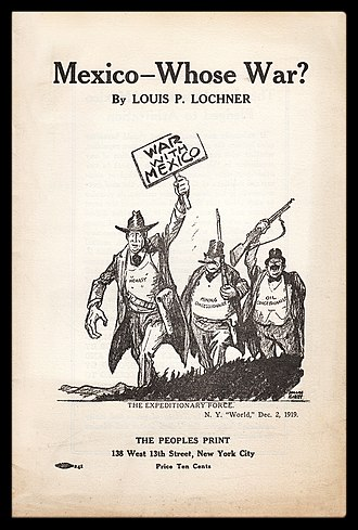 Louis P. Lochner - Cover of a Lochner pamphlet published at the end of 1919 by the People's Freedom Union in New York.
