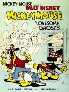 <i>Lonesome Ghosts</i> 1937 Mickey Mouse cartoon