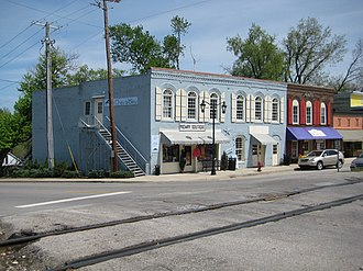 Midway, Kentucky - View looking west from intersection of Highway 62 and Main Street