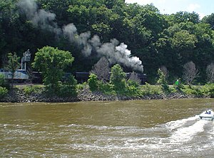 Grand Excursion - The Milwaukee Road 261 arriving at Dubuque