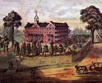 Millersville University of Pennsylvania - The original Old Main of 1854