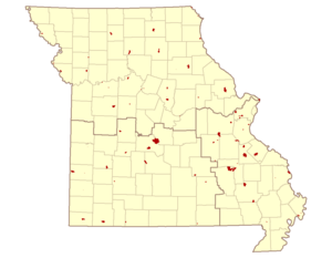 Missouri state parks and historical districts ...