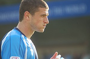 John Mousinho - Mousinho playing for Wycombe Wanderers in 2008