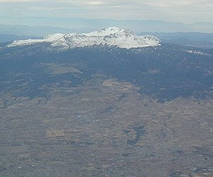 Nevado de Toluca National Park - The park with the city of Toluca in the foreground