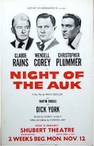 Night of the Auk - Original ad for Washington preview run, 1956