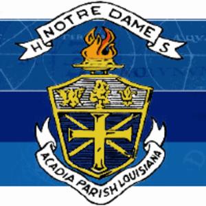 Notre Dame High School (Crowley, Louisiana) - Image: Notre Dame High School Shield