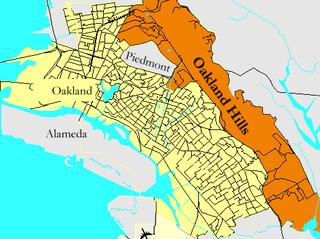 Oakland Hills, Oakland, California human settlement in Oakland, California, United States of America