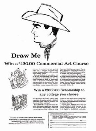 Art Instruction Schools - Full-page ad as it appeared in the Oakland Tribune on Sunday, November 13, 1959.