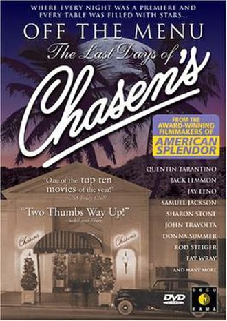 Off the Menu: The Last Days of Chasen's - DVD cover