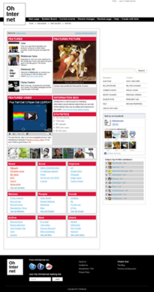 Encyclopedia Dramatica - Oh Internet main page