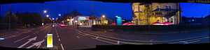 Panaoramic View of Fenwick Road, the main street in Giffnock