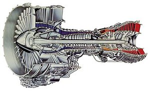 Pratt & Whitney PW2000 - Cutaway drawing of the PW2000 engine