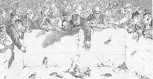 Rat-baiting - Turnspit Quakers Alley
