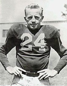 Red Cochran, player photo,Chicago Cardinals, Circa 1947-49.jpg