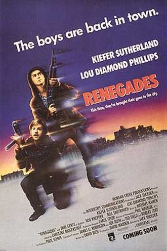 Renegades (1989 film) - Theatrical release poster