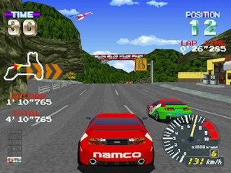 Ridge Racer Revolution - A race in progress.