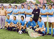 Napoli at the start of the 1970s with Dino Zoff, José Altafini, and others.